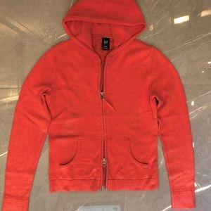 Gap cotton knit sweater zippered hoodie,